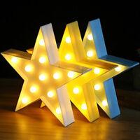 3D LED Night Light Cute Star Wall Lighting Lamps Kids Baby Room Lamp Gift Decor