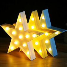 Cute 3D Star LED Night Light Indoor Wall Hanging Nursery Kids Bedroom Lamp Decor