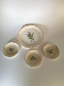 Florentiner Tablett und Untersetzer florale Motive