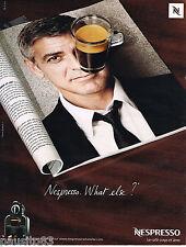 PUBLICITE ADVERTISING 065  2009  NESPRESSO  café  GEORGE CLOONEY