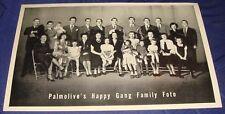 FM032 Vtg 1937 Colgate Palmolive's Happy Gang Family Foto Photo Bert Pearl