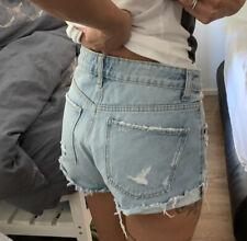 Zara High Waist Jeans Shorts - Größe 36NEU Blai Damen Hose