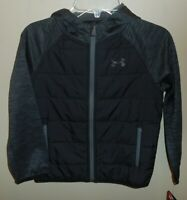 Under Armour Boys Size 6 Storm Jacket Coat Black New Hooded