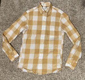 Mens Plaid J.Crew Lightweight Shirt Slim Fit Plaid Size XS