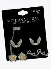 Supernatural Castiel 3-Pair Cuff Earring Set - Silver Tone