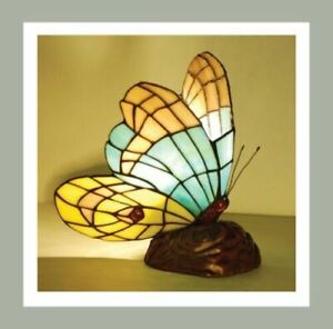 Tiffany Style Bedside Butterfly Glass Table Lamp