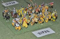 25mm medieval / english - men at arms 12 figs cavalry - cav (21832)