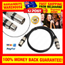 1.8m 3 Pin XLR Male to Female Microphone Extension Cable Audio Extension Cables