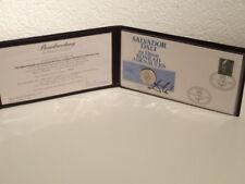 Silber Medaille Salvador Dali zu Ehren Konrad Adenauer mit Beurkundung
