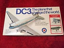ENTEX DC3 AIRPLANE MODEL KIT NO 8504 MILITARY AND CIVILIAN DECALS VINTAGE 1973