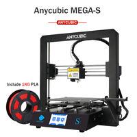 """EU Anycubic Mega-S FDM 3D Printer Kit 3.5"""" TFT Full Metal Frame + Free 1kg PLA"""