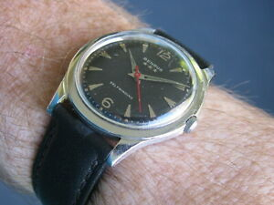 Benrus Vintage Stainless Steel Automatic Wrist Watch