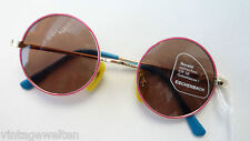 Eschenbach Sunglasses Round 100% UV Protection Girls Boys Colourful Pink Light