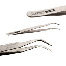 Stainless Steel Tweezers Kit for Nail Hair Eyebrow  Beauty Slanted Tip Tool