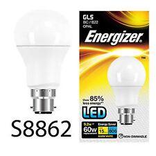 4 x Energizer LED 60 watts baïonnette cap haute puissance économie d'énergie Ampoule 9W = 60W