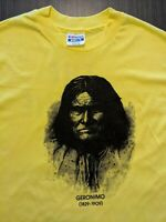 Hanes Beefy T Geronimo Apache Chief Single Stitch Vintage T-Shirt Short Sleeve