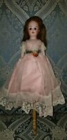 ANTIQUE MAROTTE SCHOENAU HOFFMEISTER GERMAN BISQUE MUSIC BOX BALLERINA DOLL