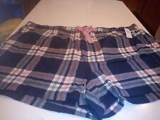 Women's Old Navy Blue Plaid Sleep Shorts Size XXL
