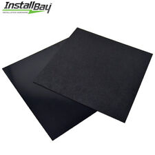 2 Pack ABS Plastic Textured Plastic Sheet 12in x 12in x 3/16in Black Smooth