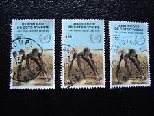COTE D IVOIRE - timbre yvert/tellier n° 802 x3 obl (A27) stamp