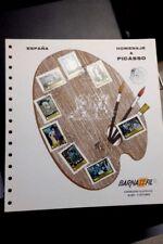 HOMENAJE A PICASSO BARNAFIL 78 CON SERIE Nº 2481/88 Y MATASELLOS EXPOSICIÓN.