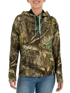 Realtree Women's Pullover Fit Fleece Hoodie with Drawstring Cord Size S 4-6