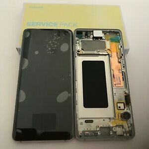 GENUINE SAMSUNG GALAXY S10 G973F WHITE/ SILVER LCD SERVICE PACK DISPLAY SCREEN