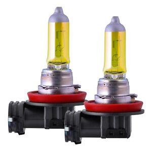 2 x H11 55W Aqua Vision 3000K YELLOW Birnen Halogen GELB Nebel Scheinwerfer