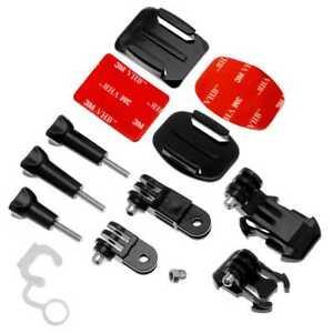 Accessories Set Kit For GoPro Hero 8 7 6 5 4 SJCAM Xiaomi Yi Adhesive Helm Mount