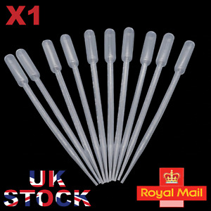"""1 x 10ml LARGE PLASTIC PIPETTES 11.5"""" LONG PIPPETTE UK SELLER FREE POSTAGE"""