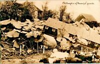 1909 Real Photo Postcard RPPC Exaggeration Pumpkin Patch House Cattle Farm A51