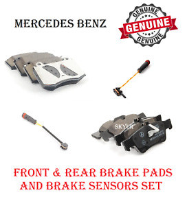 Front & Rear Brake Pads Sets With Sensors For Mercedes CL500 S500 C SL W215 W22