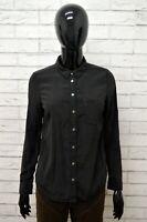 LEVI'S Camicia Donna in SETA Taglia Size S Maglia Chemise Camicetta Nero Shirt