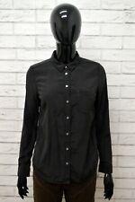 36b660e6b7 LEVI'S Camicia Donna in SETA Taglia Size S Maglia Chemise Camicetta Nero  Shirt