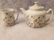 Nature Garden Society Fine China by Enesco 1975 Tea Set, Flowers & Butterflies