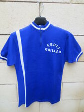 VINTAGE Maillot cycliste ASPTT GAILLAC cycling jersey shirt maglia camiseta S