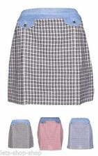 Cotton Check Regular Size Skirts for Women