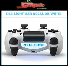 PS4 White Controller Light Bar Decal 2x  Custom Personalised Vinyl Stickers