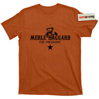 Merle Haggard for President Okie from Muskogee Outlaw Country music CD T Shirt