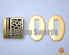 High Brass Blade Habaki & Seppa For Samurai Japanese Swords Metal Fittings H10