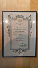 Apostolic Blessing 1953 Pope Pius XII framed with glass