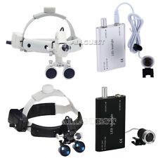 Dental Surgical Headband Binocular Loupes Magnifier/ LED Head Light Lamp