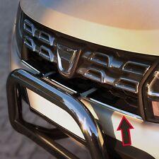 Edelstahl Kühler Grill Leiste Stoßstange für Dacia Duster Phase II 2013-2018