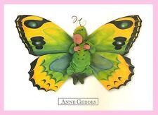CPM- Anne - GEDDES - Bébé Papillon vert/jaune
