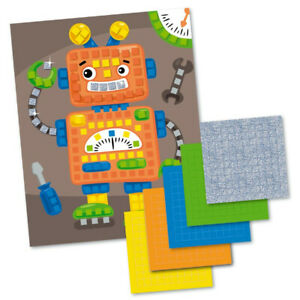 Robots Sticky Mosaic 250 pc.Applique Made in Russia
