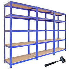 3 Estantería estante 5tier para garaje unidad almacenaje Rejjillas uso rudo