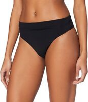 Seafolly Womens Swimwear Black US Size 4 AUS 8 Hi-Waist Bikini Bottom $52 014