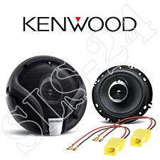 Kenwood KFC-M1634A 3-Wege Lautsprecher Boxen+KFZ Adapterkabel Fiat Punto 188 Set