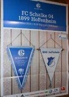 Spielplakat + Poster + FC Schalke 04 vs 1899 Hoffenheim + 30.03.2013 + Sammler