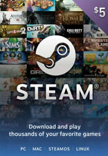 Steam Gift Card 5 USD Steam Digital Key Global